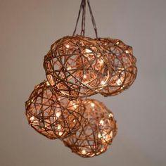 Rattan Orb Micro LED String Lights