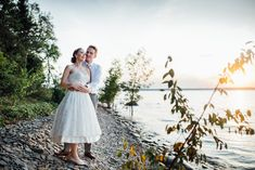 Destination Wedding: Serenity Cottage, Georgian Bay, ON (August 2019)• Natural Wedding Photos by Saidia Photography (www.saidia.ca) #ottawaweddingphotographer Summer Weddings, Georgian, Serenity, Destination Wedding, Wedding Photos, Tulle, White Dress, Cottage, Romantic