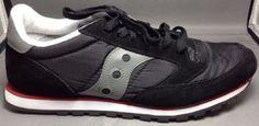 Saucony Jazz Low Pro Running Shoes 9 Womens Original Lightweight Black Gray Red