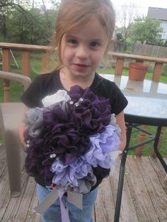Chiffon fabric flowers wedding bouquet  Romantic and by darlyndax, $119.00