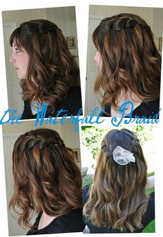 Waterfall braid hair style tutorial, with video! Blog date June 29th, 2011