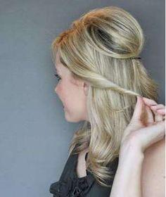 Half-Up Twist Hairstyle, Step 3