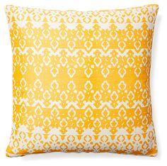 Calabasas 20x20 Jute Pillow, Mustard | A Place to Gather | One Kings Lane