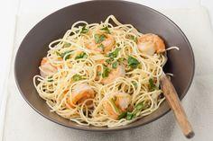 Lemon Pasta with Roasted Shrimp. Italian Lemon Pasta with Roasted Shrimp Dinner Recipe with olive oil, butter, angel hair pasta, and lemons. Quick and easy 25 minute seafood recipe. Shrimp Recipes For Dinner, Seafood Recipes, Pasta Recipes, Cooking Recipes, Healthy Recipes, Fish Recipes, Chicken Recipes, Lemon Shrimp Pasta, Seafood Pasta
