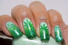 Weeds Inspired Nails by SassyPaints - Nail Art Gallery nailartgallery.nailsmag.com by Nails Magazine www.nailsmag.com #nailart