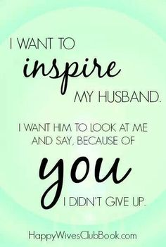 Be proud of each other and inspire