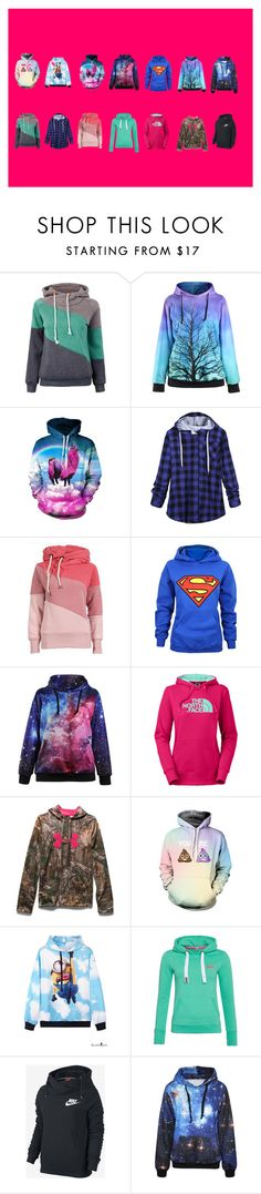 """""""Hoodies"""" by msaunders02 on Polyvore featuring The North Face, Under Armour, Superdry, NIKE, women's clothing, women's fashion, women, female, woman and misses"""