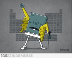 mercury :: chemistry :: hg :: periodic table :: freddie mercury / funny pictures & best jokes: comics, images, video, humor, gif animation - i lol'd Freddie Mercury, Science Jokes, Science Fun, Science Images, Weird Science, Physical Science, Teaching Science, Teaching Tools, We Will Rock You