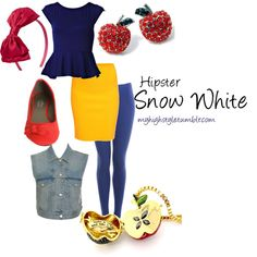 """""""Hipster Snow White"""" by fluteloop17 on Polyvore"""