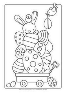 Easter Craft Ideas - Colouring Page ...could do decoupage!!