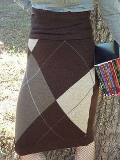 DIY Skirt from mens sweater