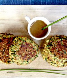 Zucchini Fritters with Honey Mustard Dipping Sauce
