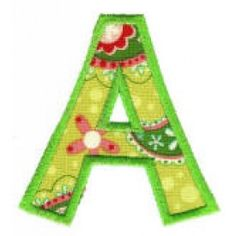 Behind Hazel Eyes Applique Alphabet