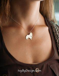 Sheltie Sheepdog Necklace - Sheltie Necklace - Custom Dog Necklace -Dog Pendant - New Pet - Birthday Gift - Personalized Pets
