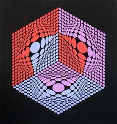 Victor Vasarely > Composition cinetique #vasarely #opart #art #prints | https://www.artetrama.com/en/artworks/victor-vasarely-composition-cinetique