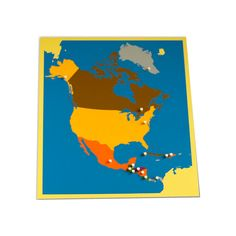 Puzzle Map of North America from Montessori Outlet