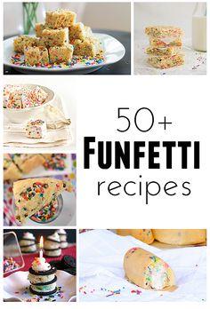 50+ Funfetti Recipes | www.tasteandtellblog.com