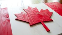 This handcrafted Canadian wood flag is a beautiful piece of patriotic wall art - Made in the USA. Wooden Flag, Wooden Wall Art, National Flag Of Canada, Art Pariétal, Pallet Flag, Uk Flag, Xmas Party, Custom Wall, Frames