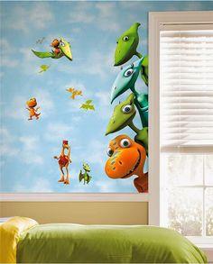 Dormitorio de Niños decorado con Dinosaurios - Arte en las Paredes y Murales