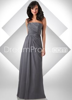 A-Line Strapless Floor-length Evening/Prom Dresses