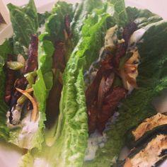 Paleo beef fajita tacos (romaine lettuce wraps)
