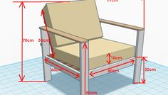 diy wooden armchair plans - Google Search