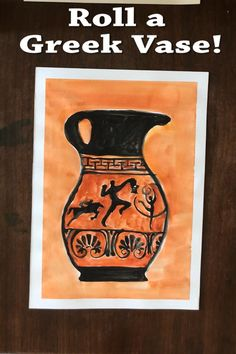 Roll and Draw! - Ancient Greek Vases - with video for distance learning! Art History Timeline, Art History Memes, Art History Lessons, History Activities, Art Lessons, Art Activities, Art History Projects For Kids, Ancient Greece Lessons, Ancient Greece For Kids