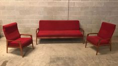 2a8308af990 Mid Century FLER  NORSK  Lounge Suite Teak Armchairs Daybed Retro