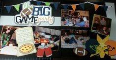 The big game party scrapbooking layout   Out on a limb scrapbooking