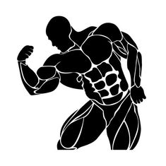 Bodybuilding and powerlifting concept, icon, vector illustration Photo Background Images, Photo Backgrounds, Fitness Backgrounds, Bodybuilding Logo, Holiday Cartoon, Human Icon, Gym Weights, Flower Logo, Muscle Fitness