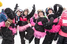 Pink Vail - Your Vail Ski Vacation experience is better with these winter events Pink Costume, Ski Vacation, Mountain Hiking, Perfect Pink, Upcoming Events, Colorado Springs, Vail Ski, Skiing, Winter