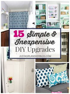 Love these ideas for upgrading a space without doing a complete overhaul! (Saves time and $$!) | http://JustAGirlAndHerBlog.com