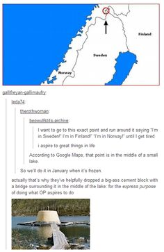 I'm pretty sure that's just Sweden and Finland holding hands and Norway is trying to get in the way nordics
