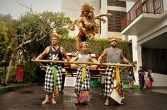 Our guest join the parade #nyepi