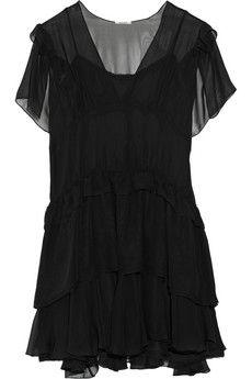 Miu Miu Tiered silk-chiffon mini dress | NET-A-PORTER