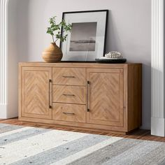 "Niam 62"" Wide 3 Drawer Sideboard 