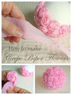 Handmade Flowers, Diy Flowers, Fabric Flowers, Elegant Flowers, Flower Diy, Origami Flowers, Flower Girls, Wedding Flowers, Diy Paper