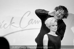 Patrick Cameron styling Rachel Heyworth's hair at a seminar with Wella Professionals at Kendal College.