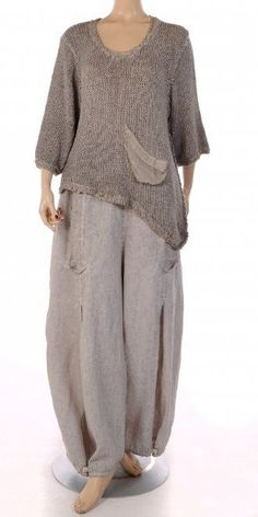 """Womens Fashion - This looks just beautiful Barbara Speer Natural """"Old Dye"""" Linen Tulip Trouser Boho Fashion, Fashion Outfits, Fashion Design, Fashion Clothes, Trendy Fashion, Womens Fashion, Beautiful Outfits, Cool Outfits, Mode Hippie"""