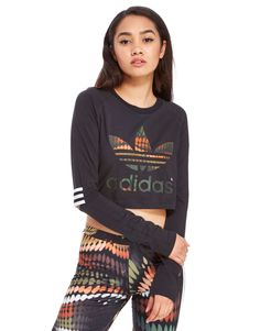 adidas Originals Rita Ora Trapeze Cropped T-Shirt - Shop online for adidas Originals Rita Ora Trapeze Cropped T-Shirt with JD Sports, the UK's leading sports fashion retailer.