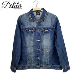 JJK-609 Delila Hand Embroidered Denim Jacket Longhorn Montana West