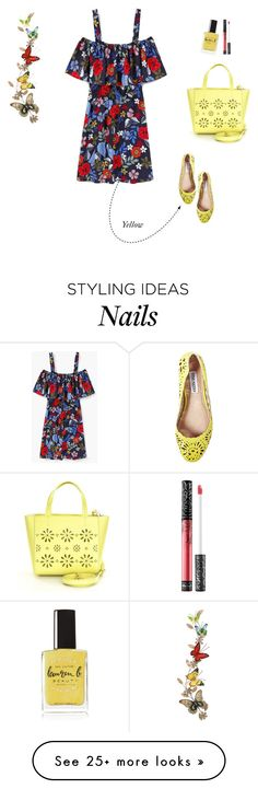 """""""Vacation Girl!"""" by quintan on Polyvore featuring MANGO, Steve Madden, Kate Spade, Benzara, Lauren B. Beauty, Kat Von D, floral, floraldress and offtheshoulderdress"""