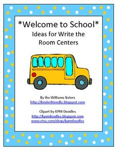 School Words Theme Write the Room Center Freebie Too Cool For School, Back To School, Welcome To School, Counting Books, Kindergarten Themes, School Tool, Emergent Readers, Early Readers, School Themes