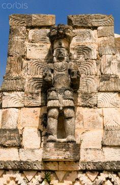 Mayan ruins of El Palacio de las Mascarones, Yucatan, Mexico