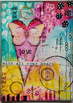 OOOh I love anything small! And art journal pages are no exception, it& such a great way to try out new techniques, play around with b. Mixed Media Cards, Mixed Media Artwork, Mixed Media Painting, Mixed Media Collage, Collage Art, Painting Collage, Acrylic Paintings, Abstract Paintings, Art Paintings