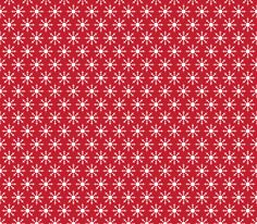 christmas snowflakes on red fabric by misstiina on Spoonflower - custom fabric
