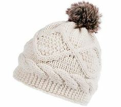 Stay warm and stylish this winter with this fleece lined beanie. We love the faux fur pom-pom!