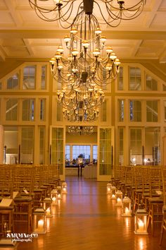©Sarma & Co. Photography, The Ryland Inn, indoor wedding ceremony decor