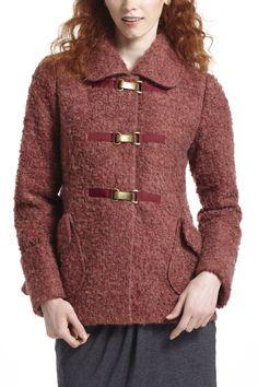 Amaranth Boucle Sweatercoat