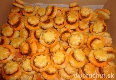 Fotorecept: Slané pečivo Pavlova, Macaroni And Cheese, Shrimp, Pizza, Vegetables, Ethnic Recipes, Food, Basket, Essen